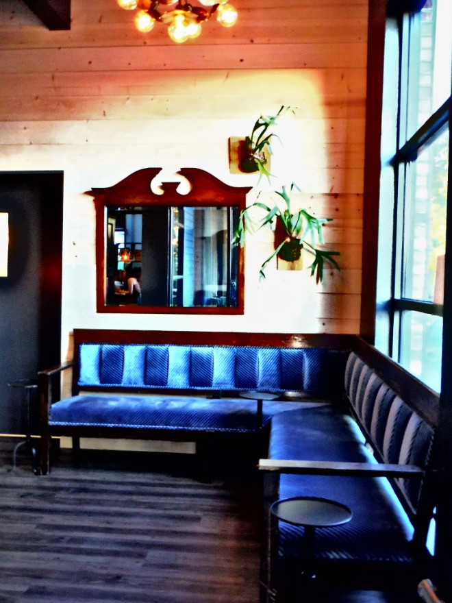customer waiting area of feast bistro in Bozeman, Montana