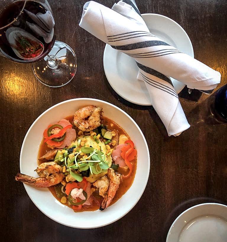 shrimp and smoked gouda grits