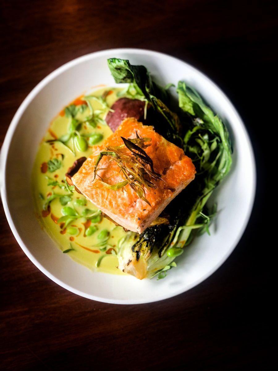 wasabi coconut salmon