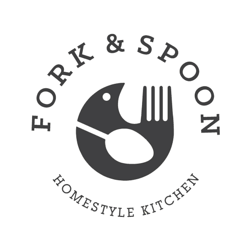 Fork and spoon homestyle kitchen logo