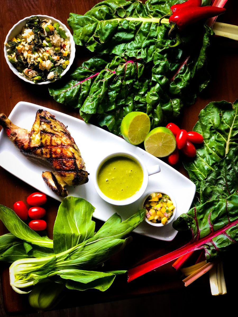 lemongrass soy cornish game hen